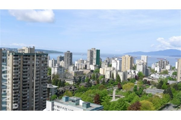 Luxury Unfurnished Apartment Rental at Patina in Vancouver's West End. 2502 - 1028 Barclay Street, Vancouver, BC, Canada.