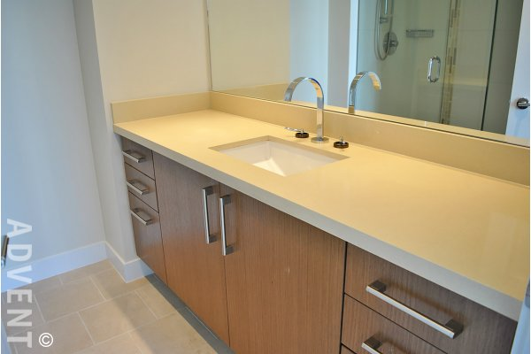 Foundry 2 Bed Unfurnished Apartment Rental at the Olympic Village in Westside Vancouver. 1506 - 1833 Crowe Street, Vancouver, BC, Canada.