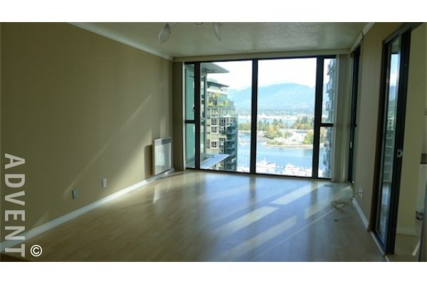 Westcoast Pointe 1 Bedroom Unfurnished Apartment For Rent in Coal Harbour. 2602 - 1331 West Georgia Street, Vancouver, BC, Canada.