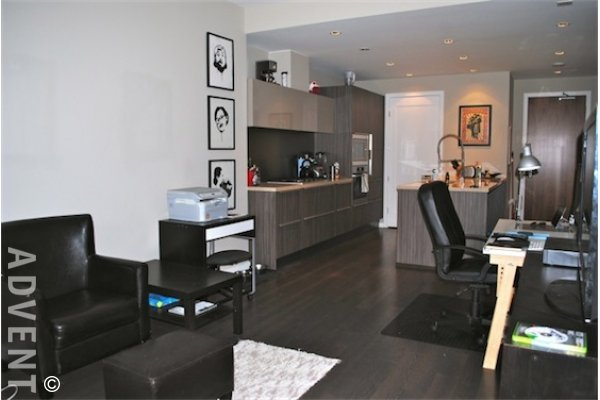Shoreline 4th Floor Unfurnished 2 Bedroom Apartment For Rent at the Olympic Village. 403 - 1625 Manitoba Street, Vancouver, BC, Canada.