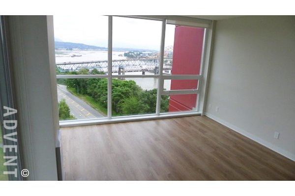 1 Bedroom Unfurnished Apartment Rental in New Westminster at Northbank. 1401 - 125 Columbia Street, New Westminster, BC, Canada.