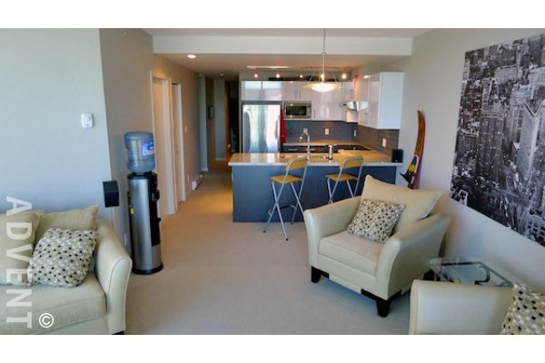 Interurban 2 Bedroom Apartment Rental at New Westminster Quay. 1809 - 14 Begbie Street, New Westminster, BC, Canada.