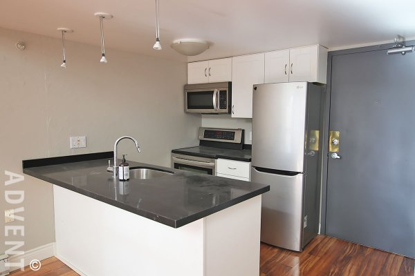 Carrall Station 5th Floor 2 Level 1 Bedroom Unfurnished Loft For Rent in Gastown, Vancouver. 508 - 1 East Cordova Street, Vancouver, BC, Canada.