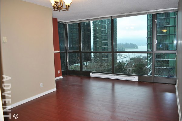 The Lions 1 Bedroom & Den Unfurnished Apartment Rental in Downtown Vancouver. 405 - 1331 Alberni Street, Vancouver, BC, Canada.