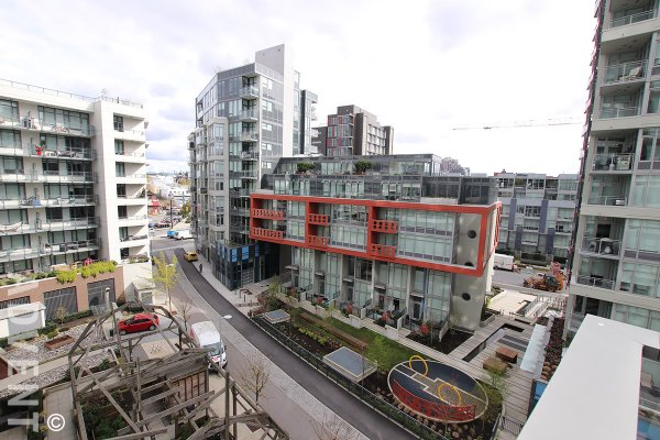 1 Bedroom Unfurnished Apartment Rental in Southeast False Creek at Lido. 708 - 110 Switchmen Street, Vancouver, BC, Canada.