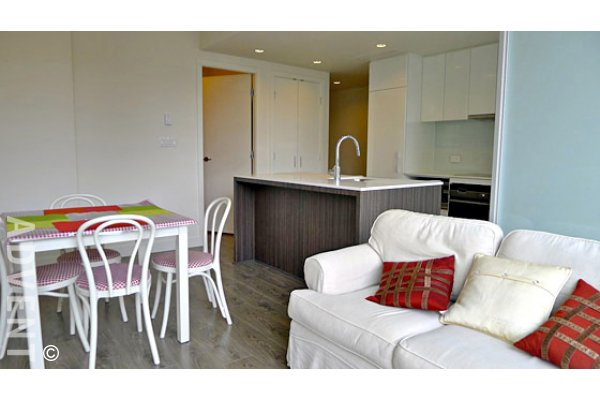 Modern 9th Floor 1 Bed & Den Unfurnished Apartment For Rent at Salt in Downtown Vancouver. 902 - 1308 Hornby Street, Vancouver, BC, Canada.