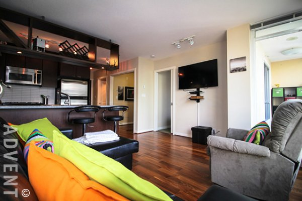 Fully Furnished 1 Bedroom Apartment For Rent at Miro in Yaletown. 701 - 1001 Richards Street, Vancouver, BC, Canada.