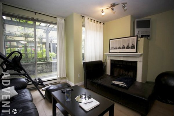 Dover Pointe 1 Bed Townhouse For Rent in Fairview on Vancouver's Westside. 9 - 795 West 8th Avenue, Vancouver, BC, Canada.