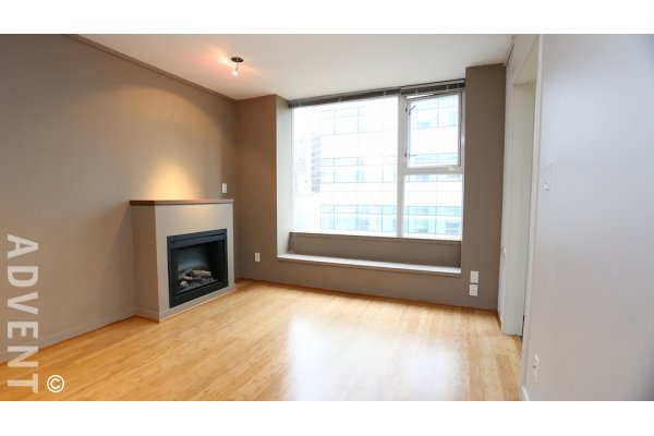 Unfurnished 1 Bedroom Apartment For Rent at L'aria in Downtown Vancouver. 605 - 822 Seymour Street, Vancouver, BC, Canada.
