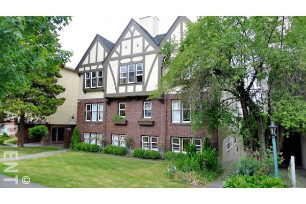 Devon Manor Unfurnished 2 Bedroom Heritage Apartment For Rent in Fairview, Westside Vancouver. 3 - 1255 West 12th Avenue, Vancouver, BC, Canada.