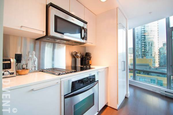 Luxury 2 Bed Furnished Apartment For Rent at Elan in Downtown Vancouver. 1701 - 1255 Seymour Street, Vancouver, BC, Canada.