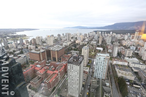 One Wall Centre Luxury 2 Bedroom Unfurnished Apartment Rental in Downtown Vancouver. 4604 - 938 Nelson Street, Vancouver, BC, Canada.