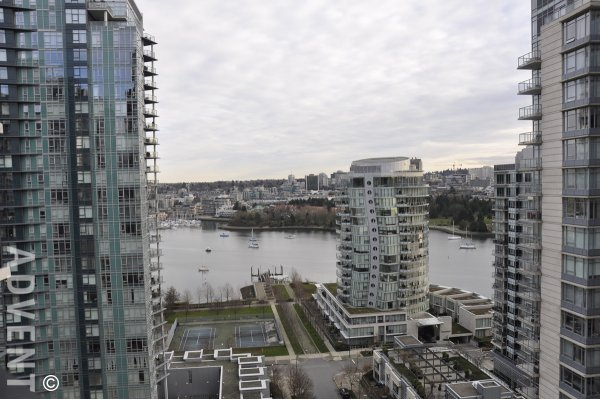 Luxury Water View 20th Floor 2 Bed & Den Apartment For Rent at Park West 1 in Yaletown. 2003 - 455 Beach Crescent, Vancouver, BC, Canada.