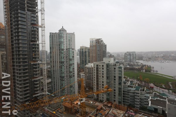 Fully Furnished Studio with False Creek Views For Rent at The 501 in Yaletown. 2110 - 501 Pacific Street, Vancouver, BC, Canada.