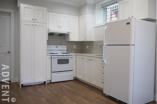 Unfurnished 2 Bedroom Basement Suite For Rent in Kitsilano, Westside Vancouver. 3227 West 12th Avenue, Vancouver, BC, Canada.