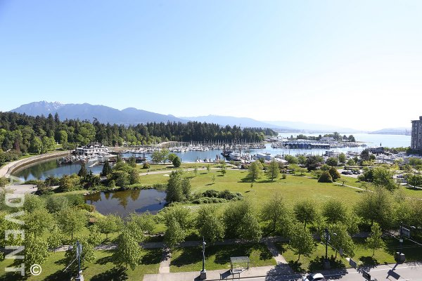 Luxury Water View 2 Bedroom Apartment Rental at Laguna Parkside in Vancouver's West End. 1101 - 1925 Alberni Street, Vancouver, BC, Canada.