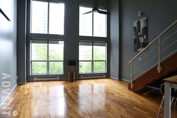 Unfurnished 1 Bedroom Loft Rental at Spot Lofts in Downtown Vancouver. 320 - 933 Seymour Street, Vancouver, BC, Canada.
