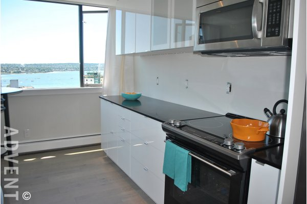 Unfurnished 2 Bedroom Apartment Rental at The Sandpiper in The West End. 1906 - 1740 Comox Street, Vancouver, BC, Canada.