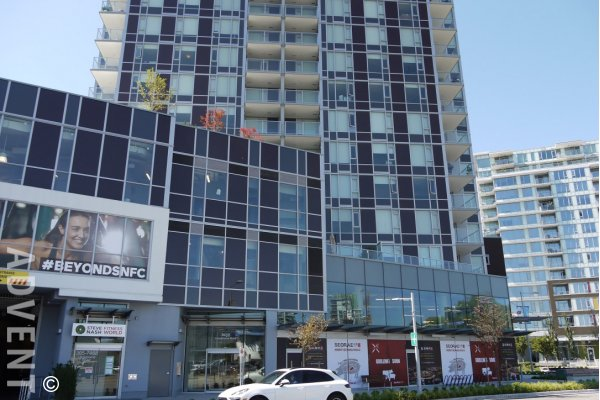 Unfurnished 1 Bedroom Apartment For Rent at Cadence in Richmond. 711 - 7468 Lansdowne Road, Richmond, BC, Canada.