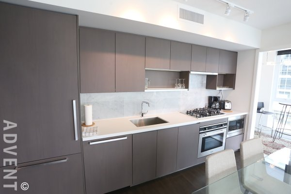 One Pacific Fully Furnished 2 Bedroom Apartment Rental in Yaletown. 708 - 68 Smithe Street, Vancouver, BC, Canada.