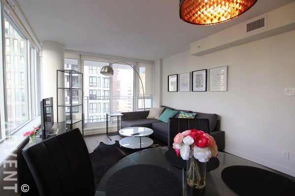 Furnished Luxury One Bedroom Apartment Rental at Modern in The West End. 1201 - 1009 Harwood Street, Vancouver, BC, Canada.