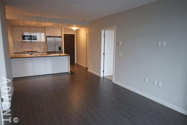Modern 9th Floor 2 Bedroom Apartment Rental at Rhythm at River District in East Vancouver. 907 - 3281 East Kent Avenue North, Vancouver, BC, Canada.