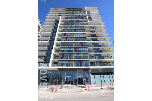 Epic at West Modern 15th Floor 1 Bedroom Unfurnished Apartment Rental in Westside Vancouver. 1509 - 1788 Columbia Street, Vancouver, BC, Canada.