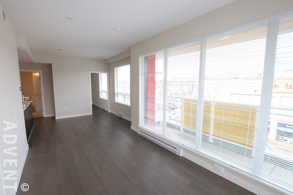 Bold on Fraser Modern 3rd Floor 2 Bedroom Unfurnished Apartment For Rent in East Vancouver. 306 - 688 East 19th Avenue, Vancouver, BC, Canada.