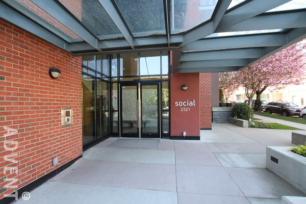 Fully Furnished 1 Bed Apartment Rental at Social in Mount Pleasant East Vancouver. 303 - 2321 Scotia Street, Vancouver, BC, Canada.
