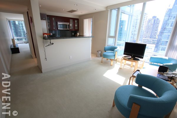 Luxury 2 Bedroom Unfurnished Apartment Rental at Cascina in Coal Harbour. 1604 - 590 Nicola Street, Vancouver, BC, Canada.