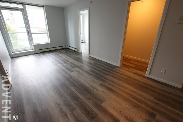 Unfurnished 1 Bedroom & Flex Apartment Rental at Pinnacle Living False Creek at The Olympic Village. 304 - 1887 Crowe Street, Vancouver, BC, Canada.