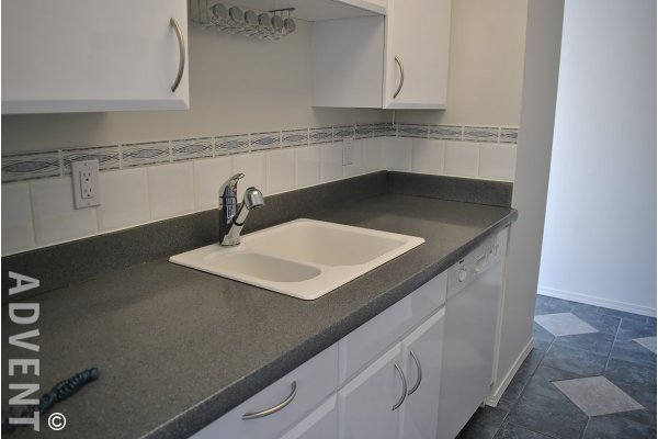 6th Floor Unfurnished 1 Bedroom Apartment Rental in Vancouver's West End at The Sandpiper. 604 - 1740 Comox Street, Vancouver, BC, Canada.
