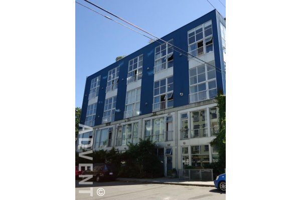 4th Floor 2 Level 1 Bedroom Unfurnished Live / Work Loft Rental in Mount Pleasant, East Vancouver. 405 - 228 East 4th Avenue, Vancouver, BC, Canada.