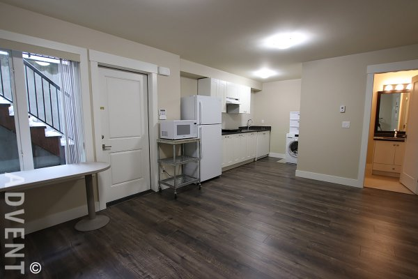 Unfurnished Studio Style Basement Suite Rental in Capitol Hill, Burnaby North. 89B Fell Avenue, Burnaby, BC, Canada.