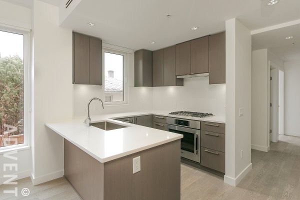 Brand New Luxury 2 Bedroom Apartment Rental at The Grayson in Westside Vancouver. 108 - 487 West 26th Avenue, Vancouver, BC, Canada.