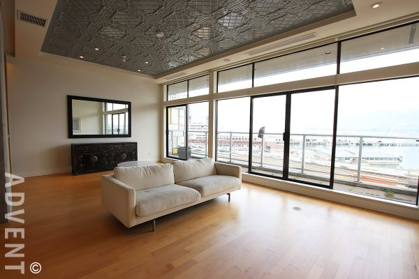 Luxury Apartment Rental With Panoramic Water & Mountain Views at Greenshields in Gastown. 508 - 345 Water Street, Vancouver, BC, Canada.