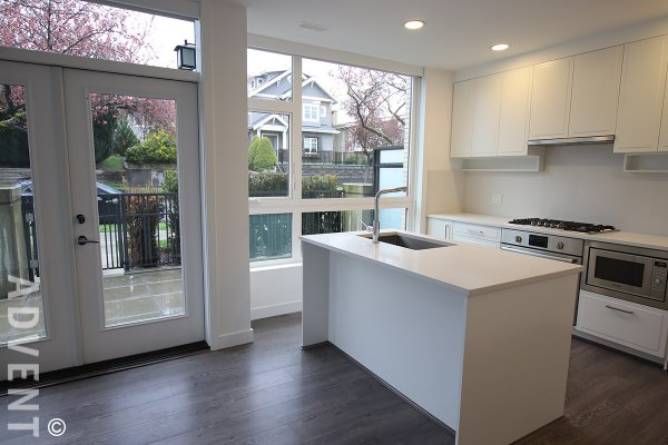Modern, 4 Level, 3 Bedroom Townhouse For Rent in South Vancouver, Marpole. 7902 Manitoba Street, Vancouver, BC, Canada.