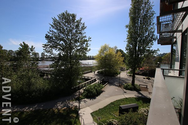 Unfurnished 2 Level, 2 Bed Apartment Rental With River Views at Shoreline at River District. 307 - 3138 Riverwalk Avenue, Vancouver, BC, Canada.