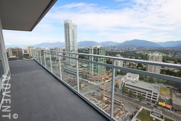 Brand New Mountain View Apartment With 450sq.ft. Patio at Station Square in Metrotown. 2708 - 4670 Assembly Way, Burnaby, BC, Canada.