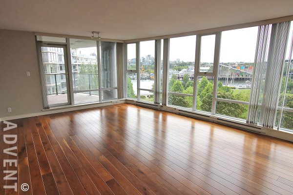 Luxury 2 Bedroom Apartment Rental With Water Views at Park West in Yaletown. 603 - 455 Beach Crescent, Vancouver, BC, Canada.