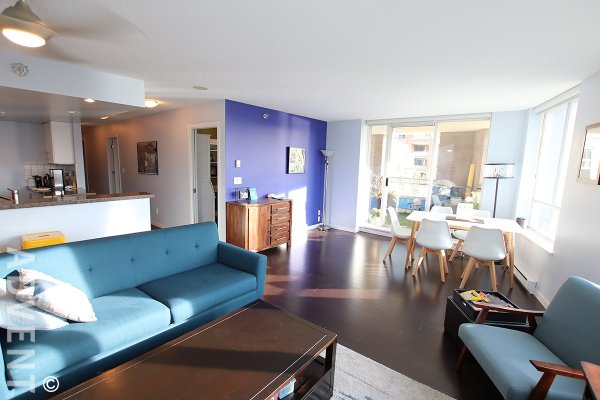 Harbour View 3 Bedroom Apartment Rental at The Brighton in Southeast False Creek. 405 - 120 Milross Avenue, Vancouver, BC, Canada.