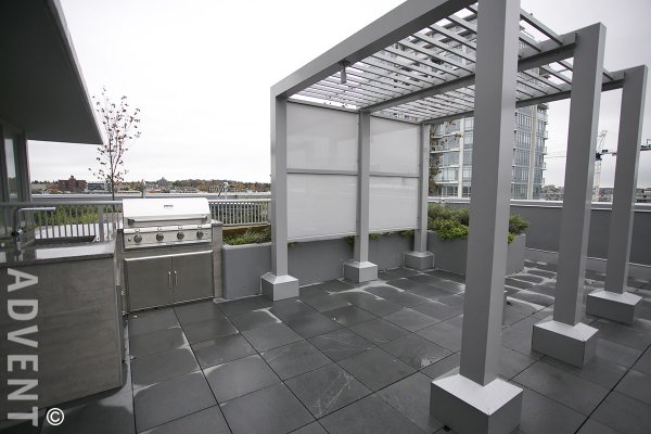 Spacious Modern 1 Bed Apartment Rental at Meccanica in False Creek, East Vancouver. 517 - 108 East 1st Avenue, Vancouver, BC, Canada.