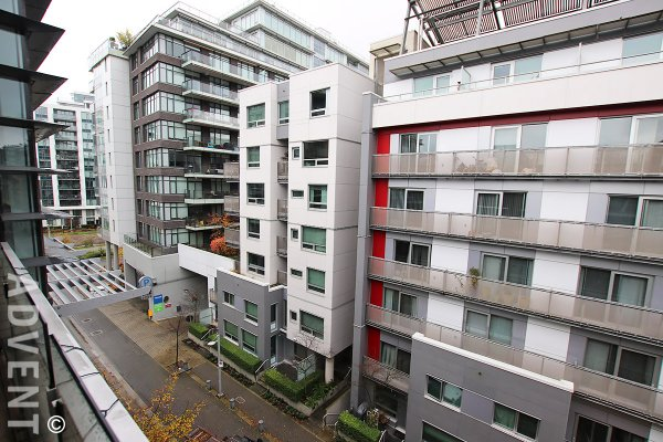 Unfurnished 2 Bedroom & Flex Apartment Rental at Kayak at The Olympic Village. 512 - 77 Walter Hardwick Avenue, Vancouver, BC, Canada.