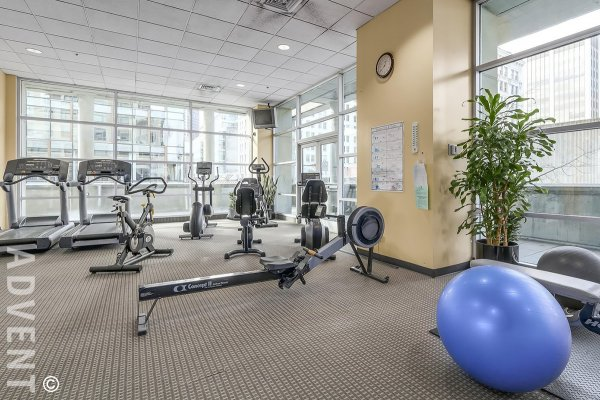 Unfurnished 1 Bed & Solarium Apartment Rental at Conference Plaza in Downtown Vancouver. 2701 - 438 Seymour Street, Vancouver, BC, Canada.