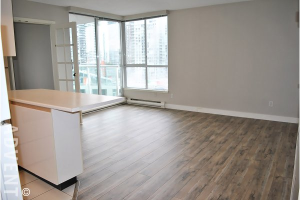 City View Unfurnished 1 Bedroom Apartment Rental at The Discovery in Yaletown. 1509 - 1500 Howe Street, Vancouver, BC, Canada.