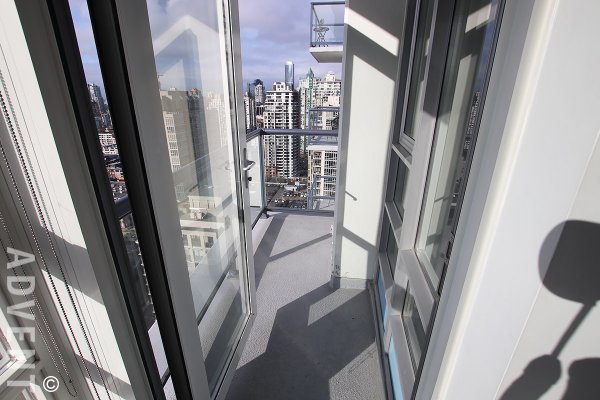 City View Unfurnished 2 Bedroom Apartment Rental at The Max in Yaletown. 3601 - 928 Beatty Street, Vancouver, BC, Canada.