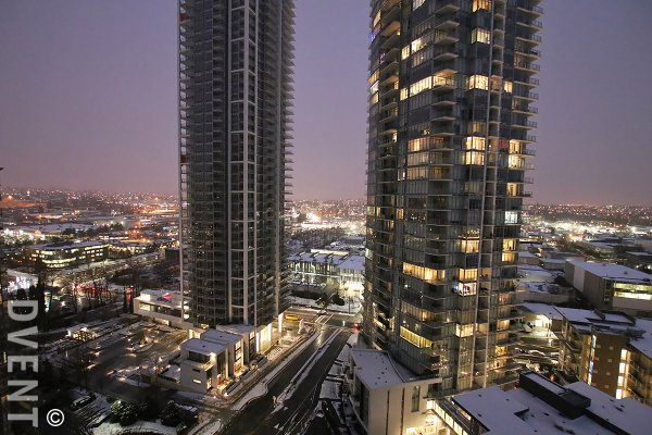 Modern 19th Floor City View 2 Bed Apartment Rental at Aviara in Brentwood, Burnaby. 1905 - 4189 Halifax Street, Burnaby, BC, Canada.