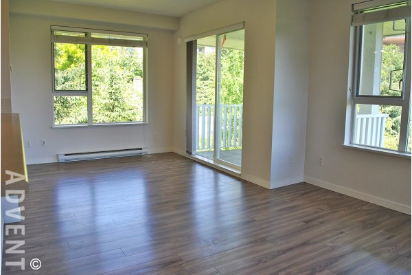 Unfurnished 2 Bedroom Apartment Rental at Collage in Brentwood, Burnaby. 413 - 4723 Dawson Street, Burnaby, BC, Canada.