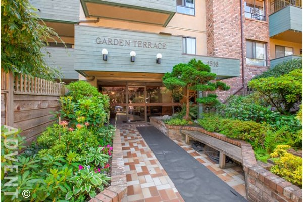 2nd Floor 1 Bedroom Unfurnished Apartment Rental at Garden Terrace in East Vancouver. 206 - 1516 Charles Street, Vancouver, BC, Canada.