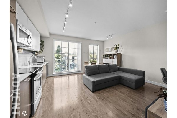 Modern 3rd Floor 1 Bedroom Unfurnished Apartment Rental in Coquitlam at Emerson. 301 - 618 Como Lake Avenue, Coquitlam, BC, Canada.